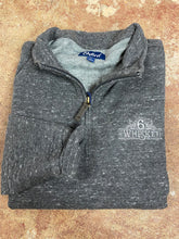 Load image into Gallery viewer, Oxford Crawford 1/4 Zip Fleece Pullover 6Whiskey Fall 2020 In black Heather
