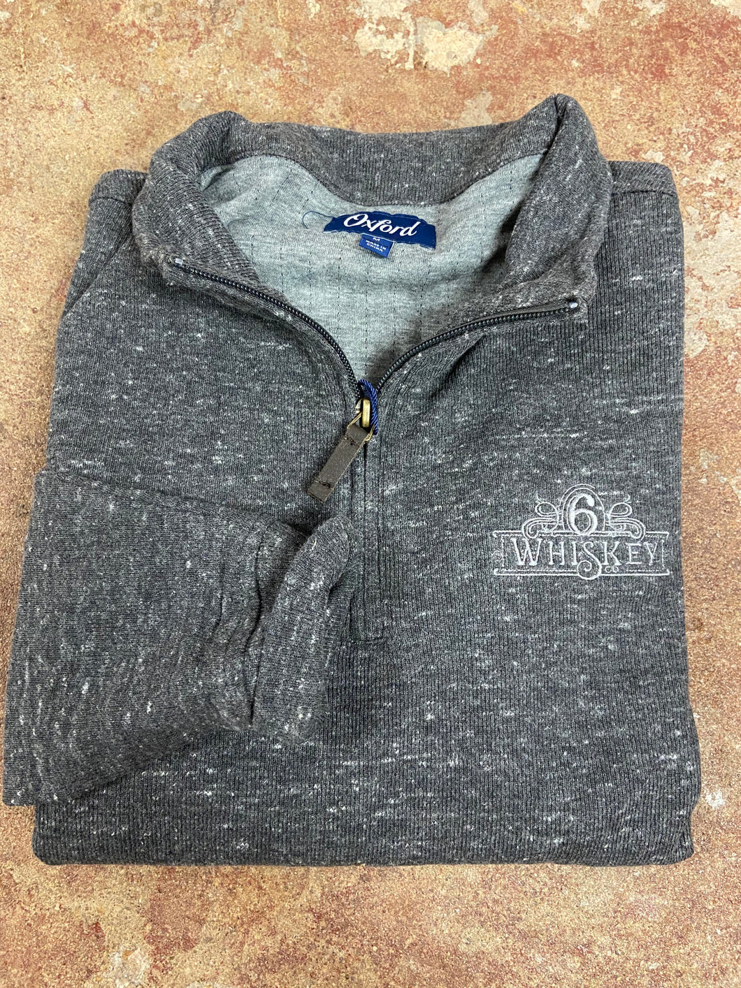 Oxford Crawford 1/4 Zip Fleece Pullover 6Whiskey Fall 2020 In black Heather
