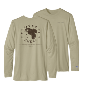 Over Under Performance Timber Tech long sleeve 6whiskey tan men's bobwhite