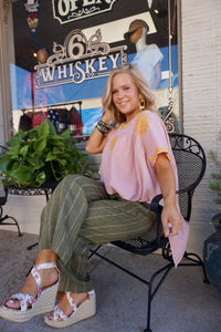 Ivy Jane Pink Embroidered Top 6whiskey six whisky