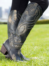 Load image into Gallery viewer, Old Gringo Tall Belinda Boot in Distressed Black w/ Studs 6Whiskey