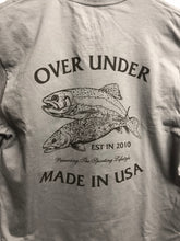 Load image into Gallery viewer, Over under long sleeve usa made t-shirt brown brookie 6whiskey six whisky 6 whiskey