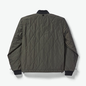 Filson jacket back view 6Whiskey Drk olive green warm