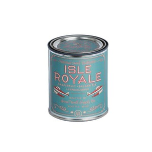 Isle Royale Candle 6 whiskey tin national park good and well supply all natural six whisky soy wood wick