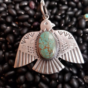 Spirit Eagle Pendant with Turquoise