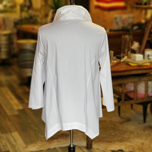 Wide Collar Button Down Shirt
