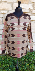 Tasha Polizzi ~ Pullover ~ Alta Blanket 6 Whiskey six whisky cowboys indians