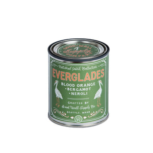 Everglades candle 6 whiskey good well supply national park collection six whisky all natural tin wood wick