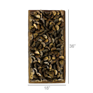 Shoe Parts Wood Wall Art 6Whiskey Measurements