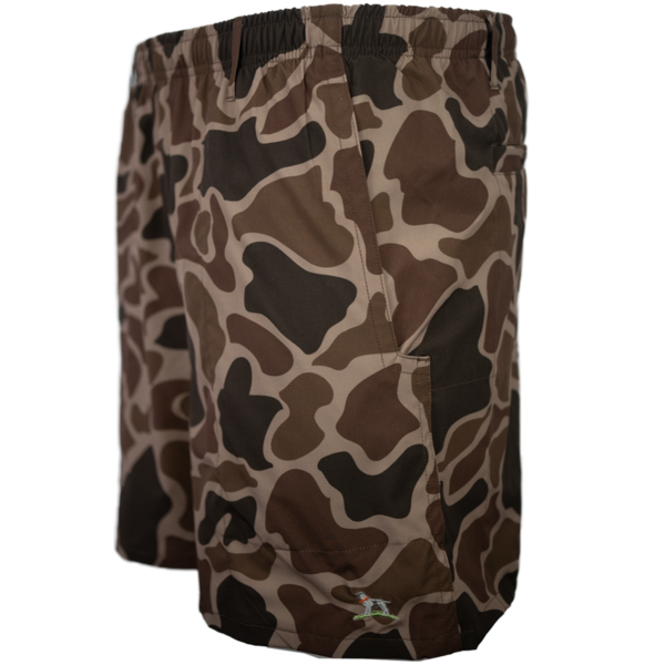 Over Under Swim Shorts 6whiskey six whisky shearwater duck camo made in USA