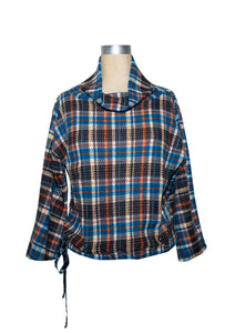 Ivy Jane Plaid Drawstring Top 6Whiskey Fall 2020