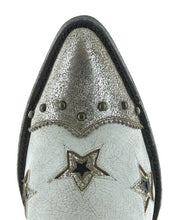 Load image into Gallery viewer, Old Grino Glamis Short Boot w/ Stars in White 6Whiskey