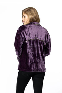 Double D Ranch Velvet Blackhills Jacket in Pagent Purple 6Whiskey Cody Fall Collection 2020 C2718
