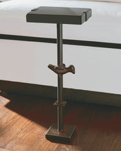 Load image into Gallery viewer, Jan Barboglio iron bird side table mesita Paloma 6 whiskey six whisky wood small plant stand
