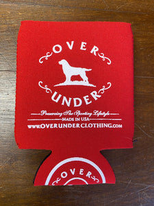 Over Under Red Can Cooler/Koozie at 6Whiskey