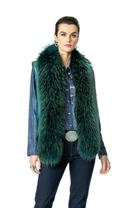 Double D Ranch Hondo Vest in Ruidoso Pine Teal 6Whiskey Nashville Fall 2020 V961