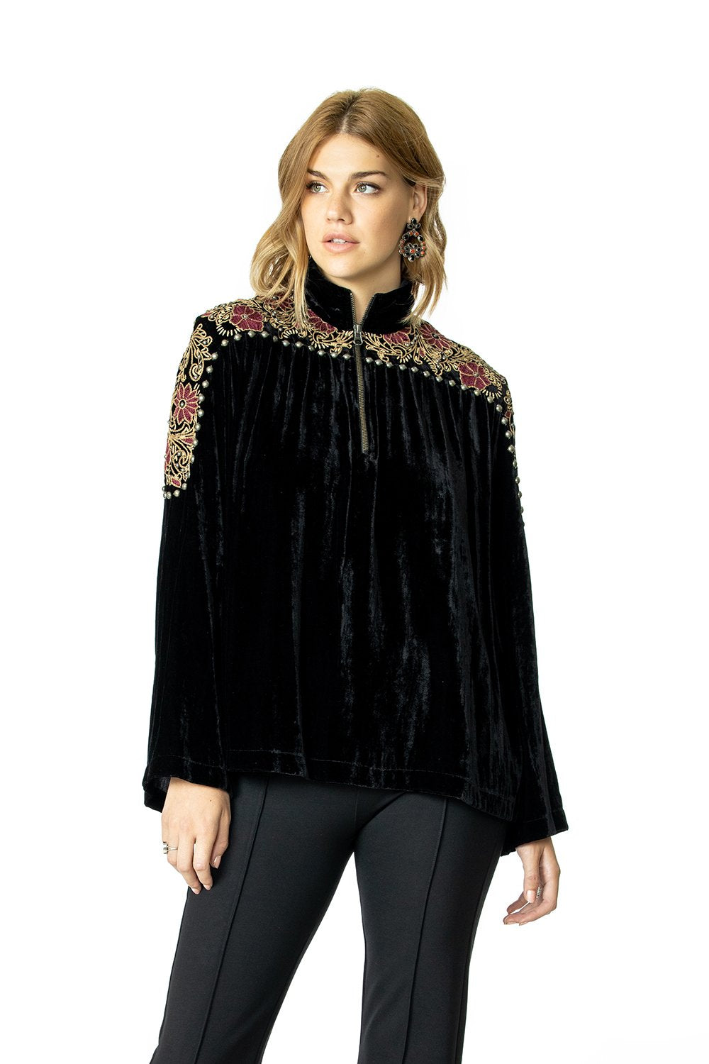 Double D Ranch Ketch a Wildflower Top in Black 6Whiskey T3384 Nashville Fall 2020