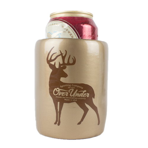 Old School Can Cooler by Over Under 6 Whiskey white tail koozie