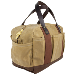Sportsman's gear field bag 6 whiskey six whisky over under tan canvas hunting