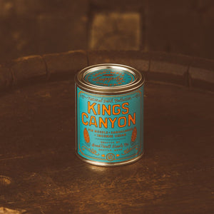 Kings Canyon candle National Park Collection 6 whiskey good well supply all natural six whisky wood wick soy tin