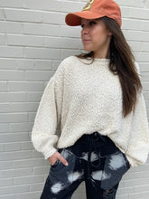 Load image into Gallery viewer, Cream Knit Sweater 6Whiskey Fall/Winter/Holiday 2020 Cozy Long Sleeve