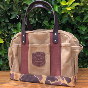 Sportsman's gear field bag 6 whiskey six whisky over under camo canvas hunting