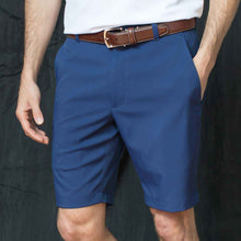 Load image into Gallery viewer, Oxford Men's Perfromance golf shorts in Medieval blue navy 6whiskey six whisky