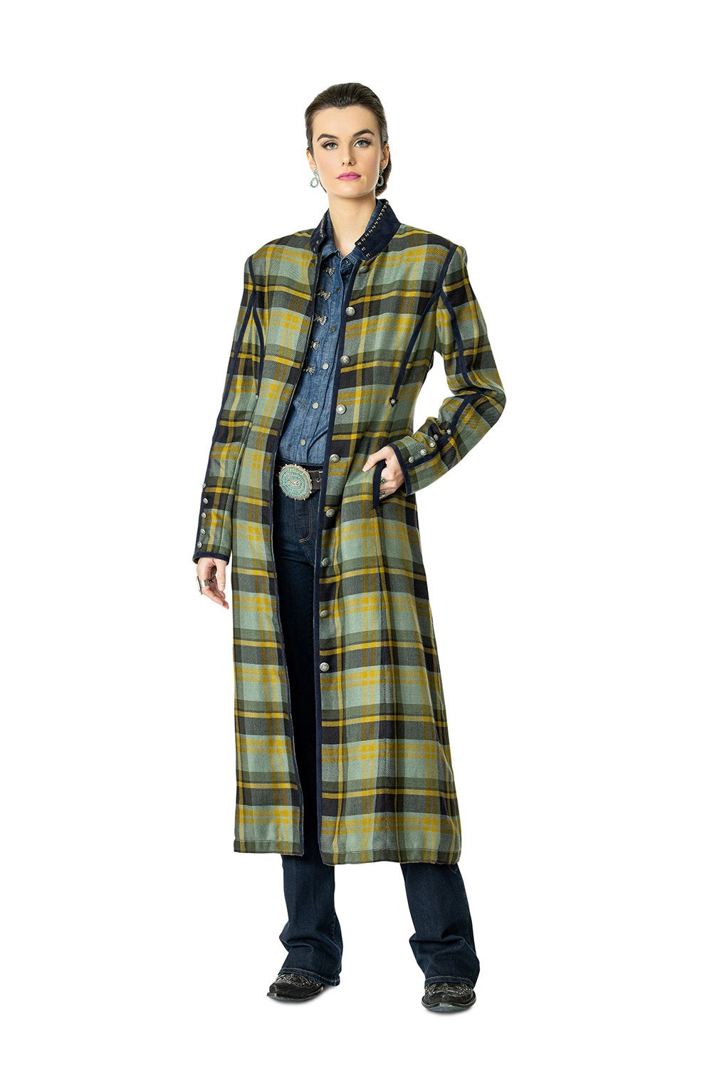 DDR Rodgers Plaid Duster 6Whiskey six whisky Taos Holiday Collection C2762