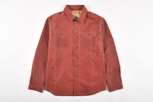 Dehen Men's Crissman Overshrit/Jacket 6Whiskey Waxed Canvas in Tabacco Moleskin Fall 2020