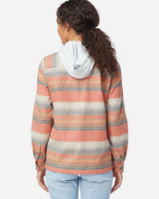 Load image into Gallery viewer, Pendleton Women's Board shirt in copper stripe, desert sunset at 6Whiskey six whisky back view