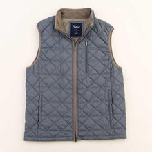 Load image into Gallery viewer, Men's Ottley Quilted Full Zip Vest in Folkstone Grey 6Whiskey by Oxford Fall