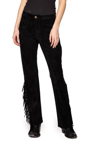 Double D Ranch Wild West Fringe Pant in Black 6Whiskey P470