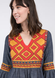 Ivy Jane Chambray Tapestry Top 6Whiskey six whisky fall 2020