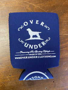 Over Under Navy Can Cooler/Koozie at 6Whiskey
