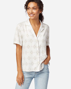 Pendleton white and grey graphic button down at 6Whiskey six whisky womens wear
