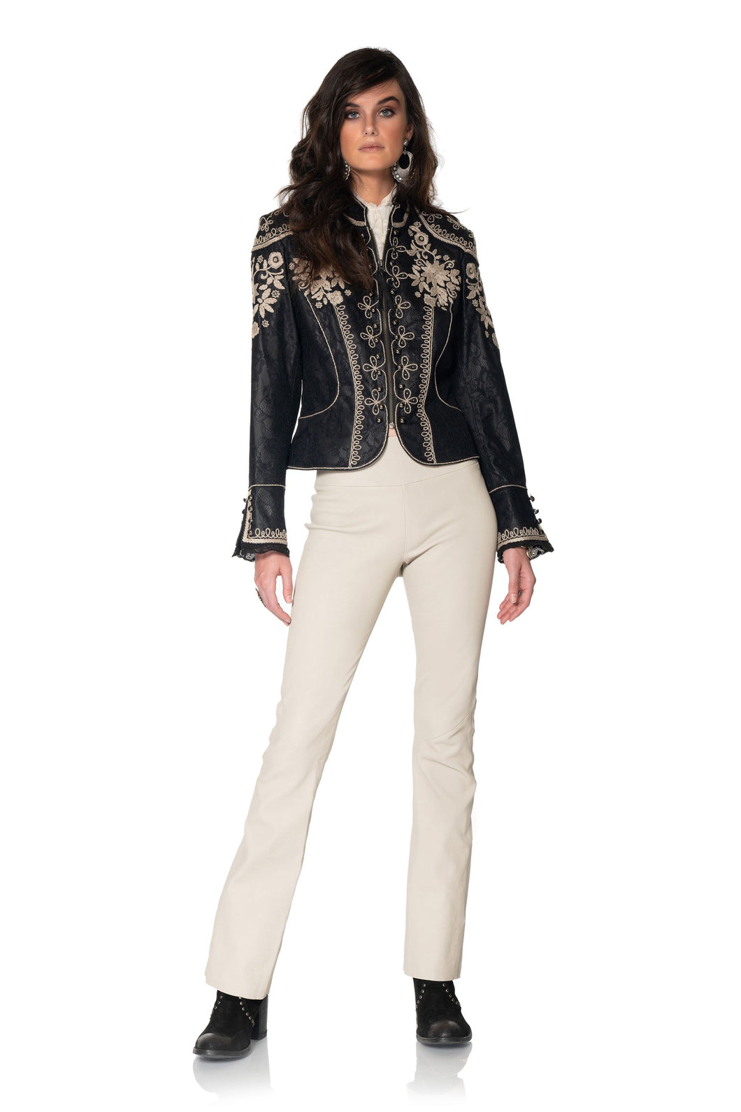DDR Black and silver lace Dona Diego Jacket C2774 at 6Whiskey six whisky Maria spring 2021