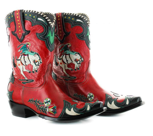 Double D Ranch Old Gringo Cass Boot in Red 6 Whiskey