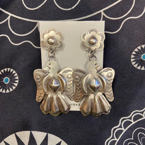 Sterling Silver Thunderbird Earrings 6Whiskey