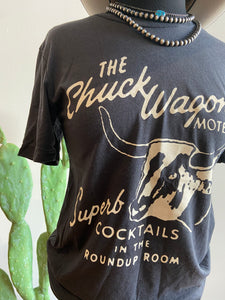 Chuck Wagon Motel Grey Graphic T-shirt 6Whiskey Fall 2020