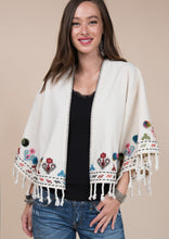 Load image into Gallery viewer, Ivy jane embroidered tassel kimono 6whiskey six whisky