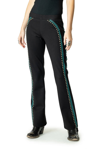 Double D Ranch Long Black Train Pant in Taos Teal 6Whiskey Nashville Fall 2020 P478