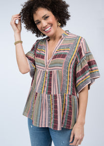 Ivy Jane Multi Striped Tiered Top 6Whiskey six whisky fall 2020