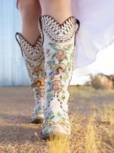 Load image into Gallery viewer, Double D Ranch Almost Famous Tall Cowboy Boot in White by Old Gringo at 6Whiskey