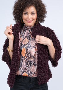 Ivy Jane Maroon Fuzzy Teddy Bear Cropped Jacket 6Whiskey Winter 2020