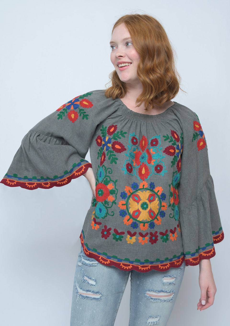 Ivy Jane Grey Kaleidoscope Embroidered Top 6Whiskey Fall 2020
