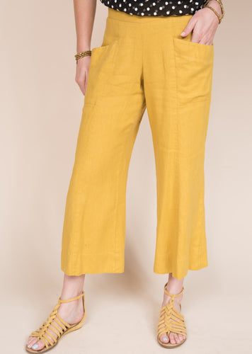Ivy jane go to mustard crop pant 6whiskey six whisky