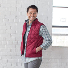 Load image into Gallery viewer, Men's Ottley Quilted Full Zip Vest in Tibetan Red 6Whiskey by Oxford Fall