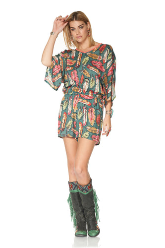 DDR Flight Feather Romper at 6Whiskey six whiskey in Cynthia spring collection P497