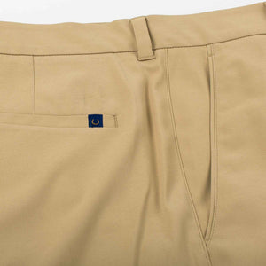 Oxford Men's Perfromance golf shorts in twill khaki 6whiskey six whisky
