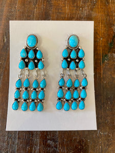 Turquoise Sterling Silver earrings six whiskey southwest
